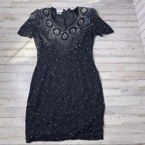 Stenay Vintage Silk Beaded Sequin Dress